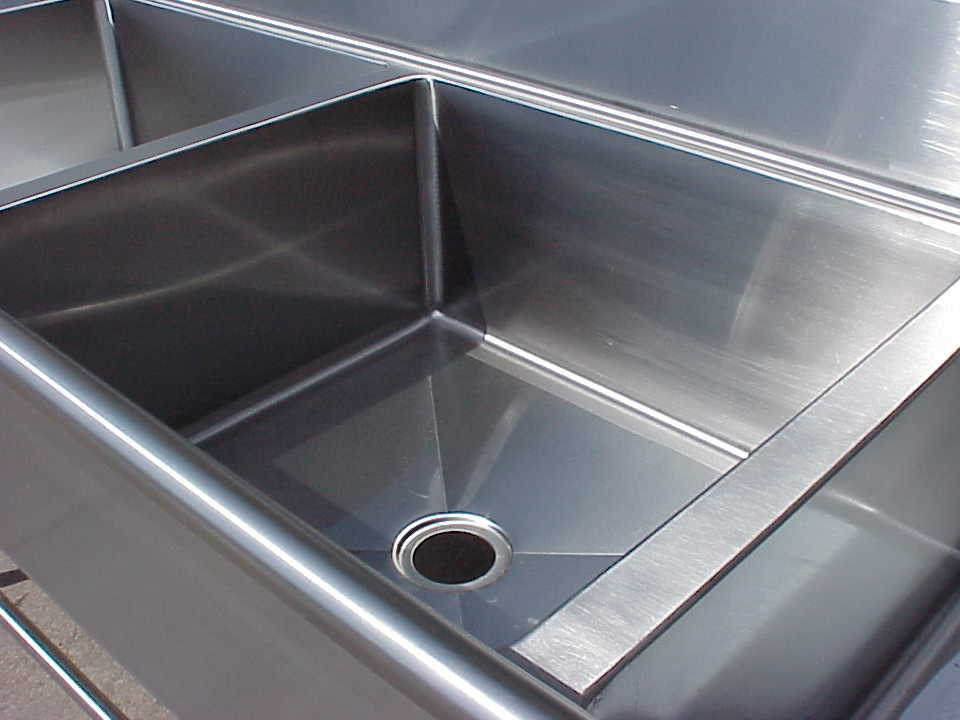 Heavy Duty Stainless Steel Commercial Sink Made From 12 Gauge