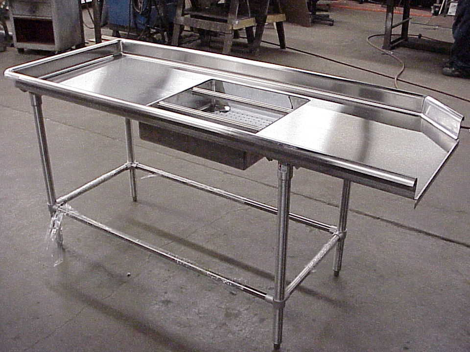 Stainless Steel Dish Table with Sink