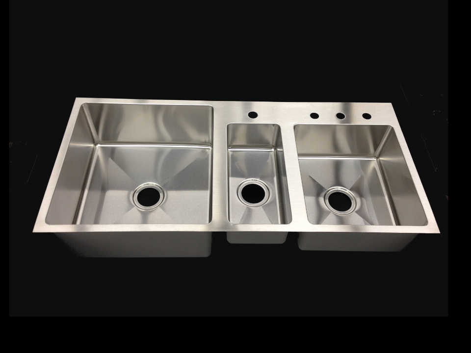 Triple Bowl Undermount Stainless Steel Sink